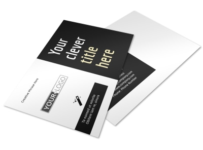 Decking Service Postcard Template preview