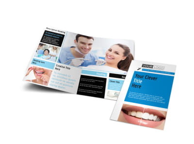 Dental Teeth Whitening Bi-Fold Brochure Template preview