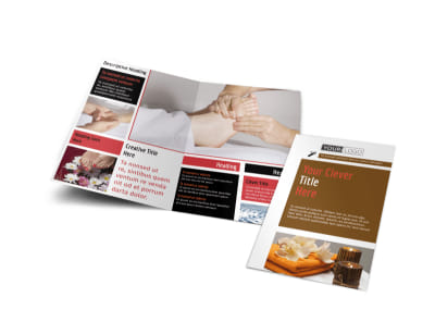 Reflexology Bi-Fold Brochure Template