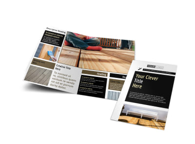 Decking Service Bi-Fold Brochure Template preview