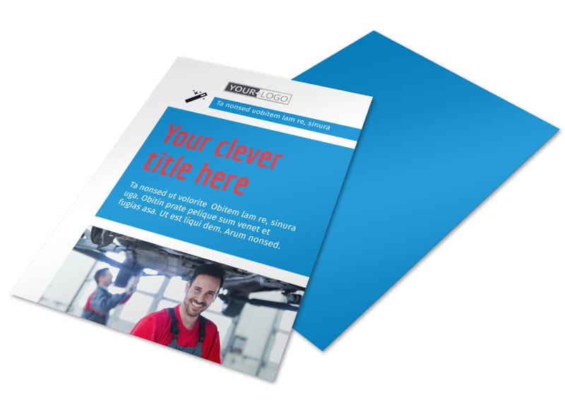 Automotive Repair Center Flyer Template Preview 4