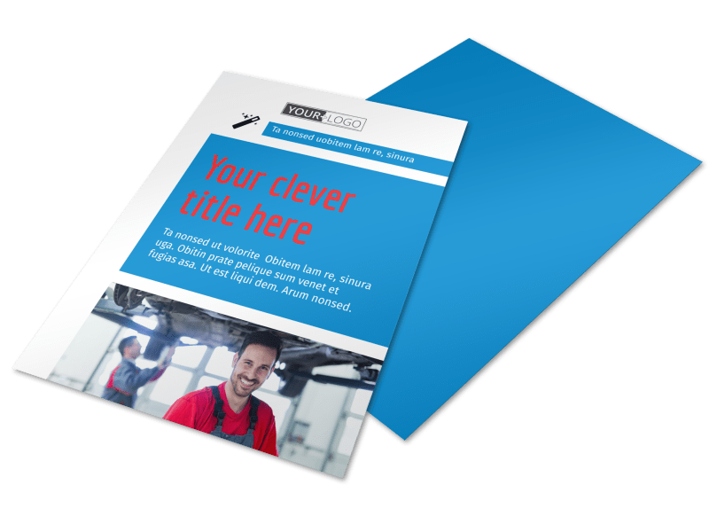 Automotive Repair Center Flyer Template Preview 1