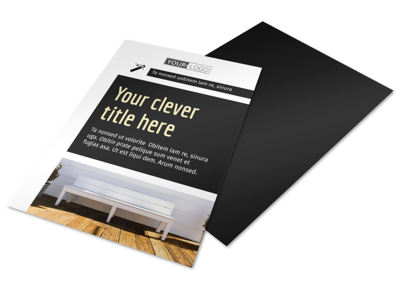 Decking Service Flyer Template