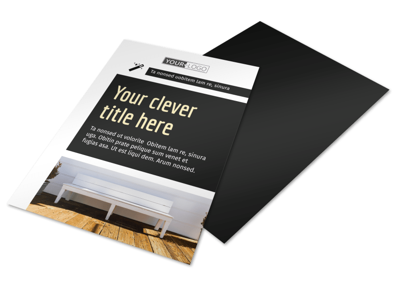 Decking Service Flyer Template Preview 1