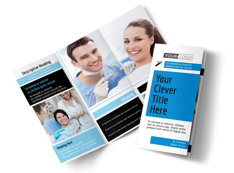 Dental Teeth Whitening Brochure Template Mycreativeshop