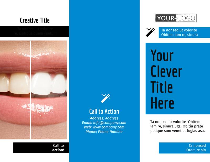 Dental Teeth Whitening Brochure Template Preview 2