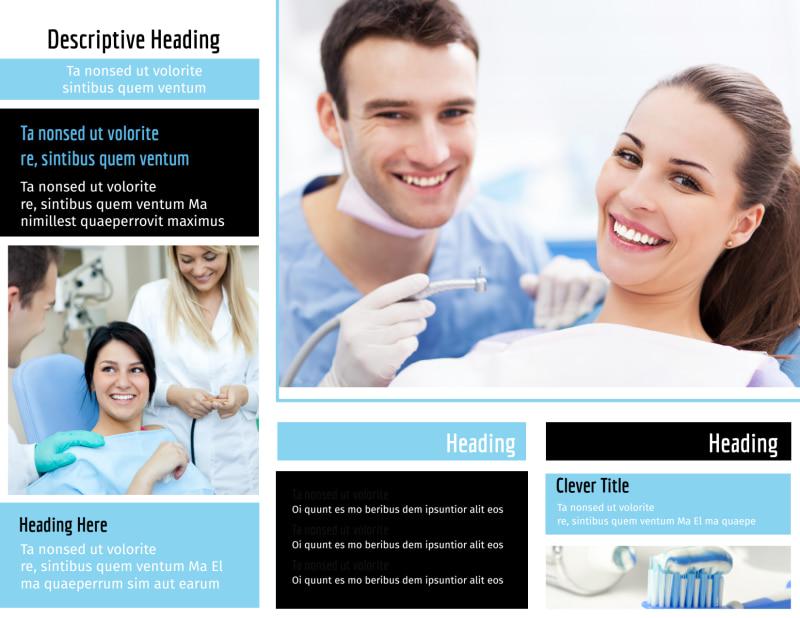 Dental Teeth Whitening Brochure Template Preview 3