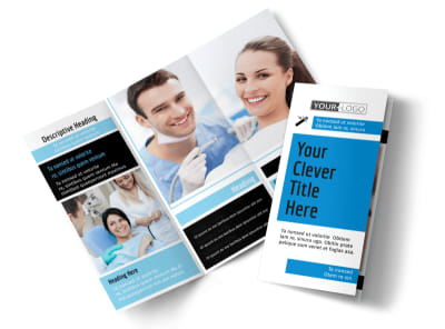 Dental Teeth Whitening Tri-Fold Brochure Template preview