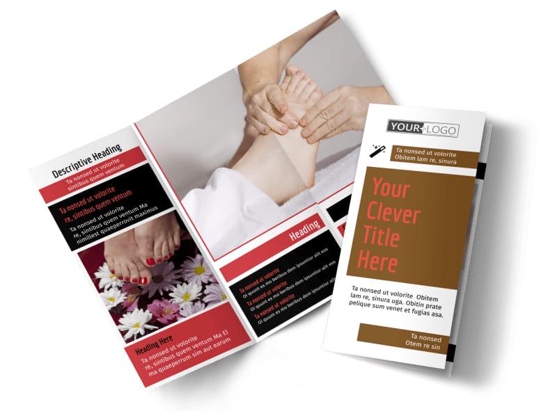 Reflexology Brochure Template Preview 4