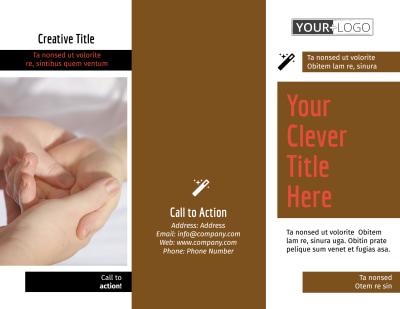 Reflexology Brochure Template Preview 1