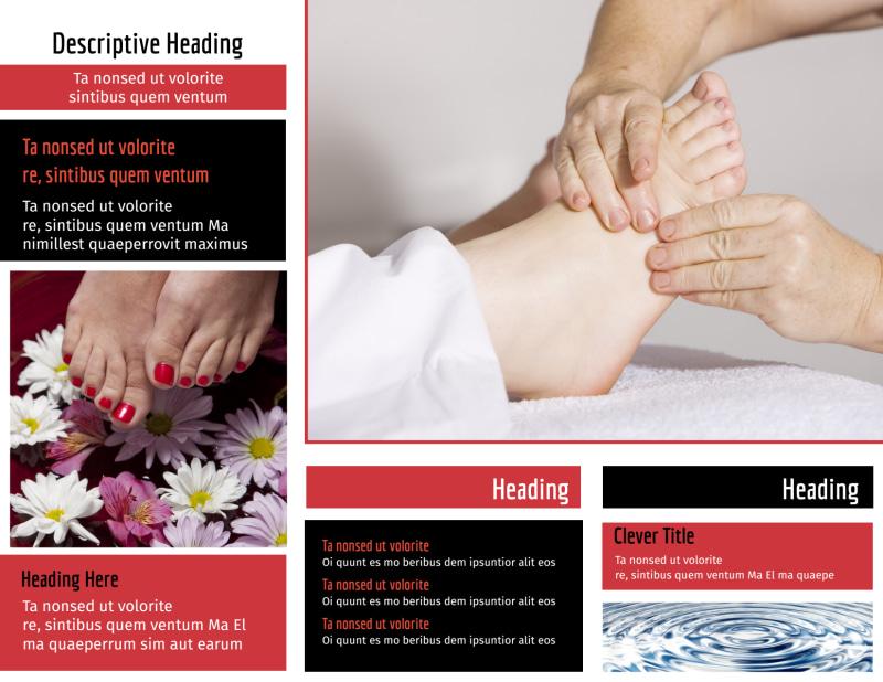 Reflexology Brochure Template Preview 3