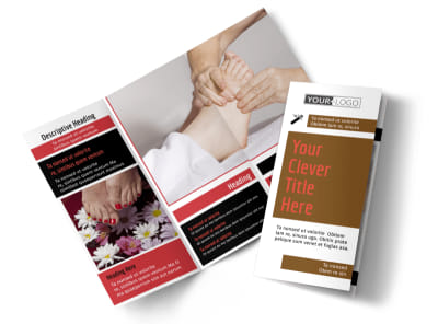 Reflexology Tri-Fold Brochure Template