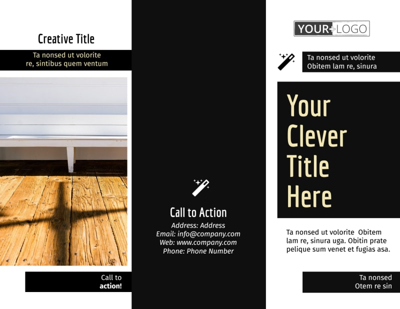 Decking Service Brochure Template Preview 2