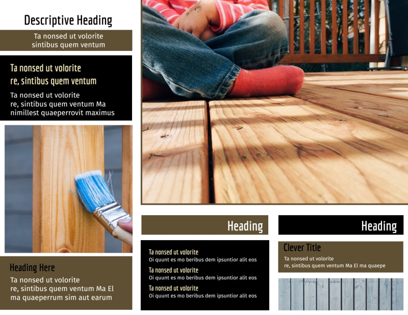 Decking Service Brochure Template Preview 3