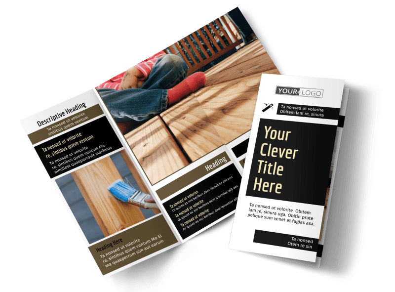Decking Service Brochure Template Preview 1