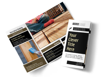 Decking Service Tri-Fold Brochure Template preview