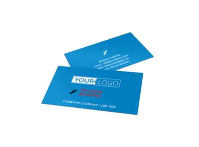Automotive Repair Center Business Card Template preview