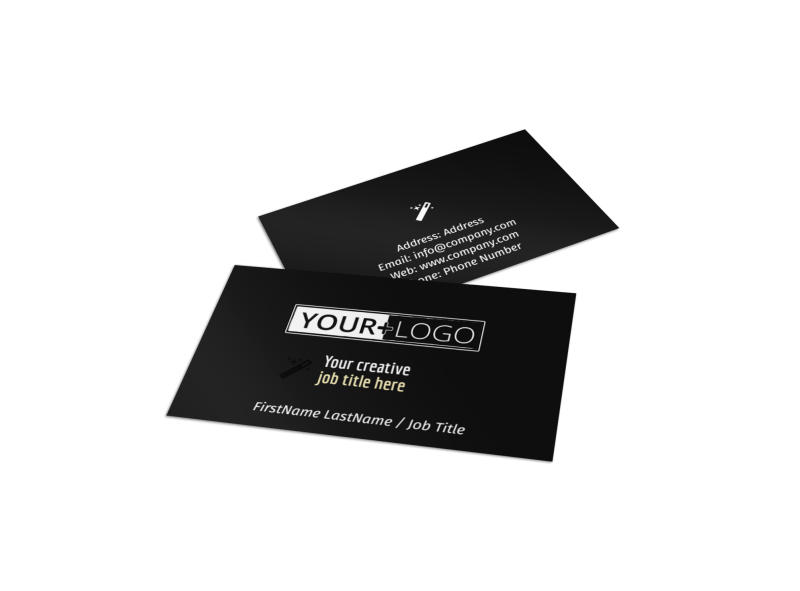 Decking Service Business Card Template Preview 1