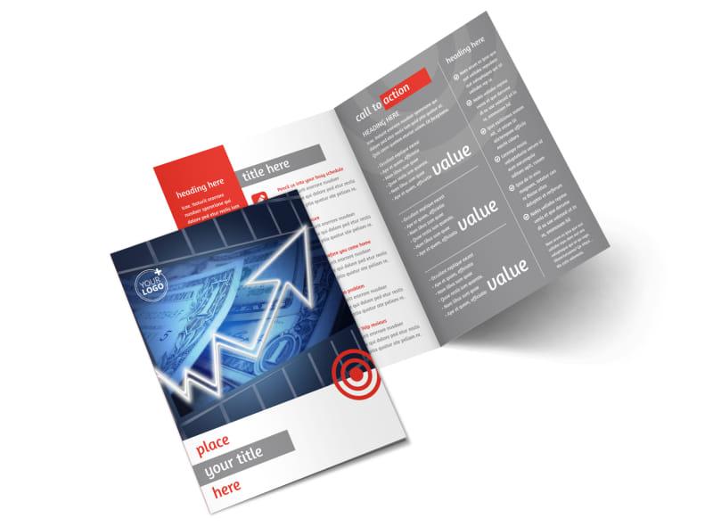 Wealth Management Services Bi-Fold Brochure Template 2