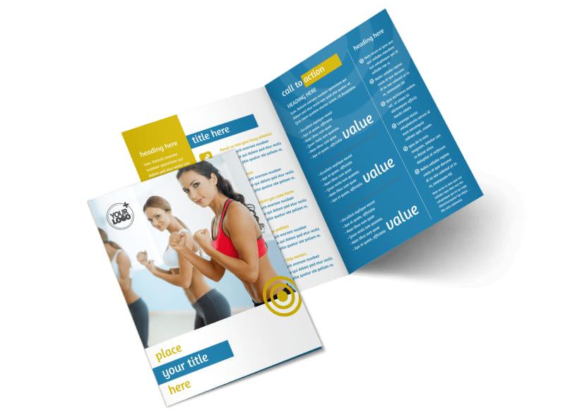 Core Fitness Gym Bi-Fold Brochure Template 2