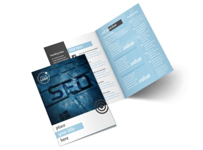 SEO Conference Bi-Fold Brochure Template 2