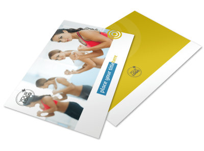 Core Fitness Gym Postcard Template 2 preview