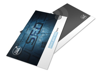 SEO Conference Postcard Template 2 preview