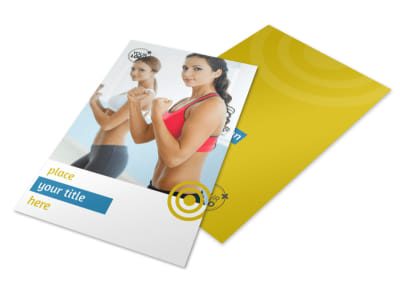 Core Fitness Gym Flyer Template 3