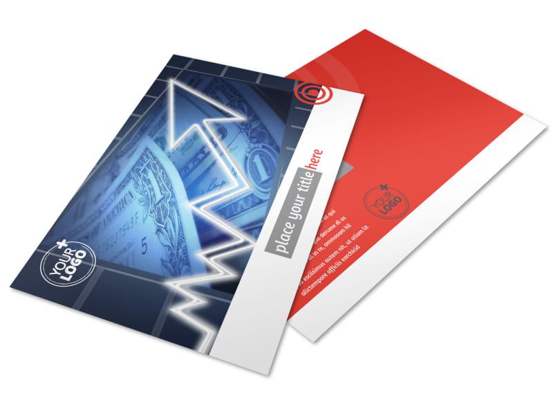 Wealth Management Services Postcard Template