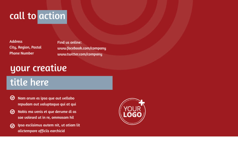Web Developers Postcard Template Preview 3