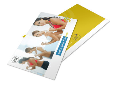 Core Fitness Gym Postcard Template preview