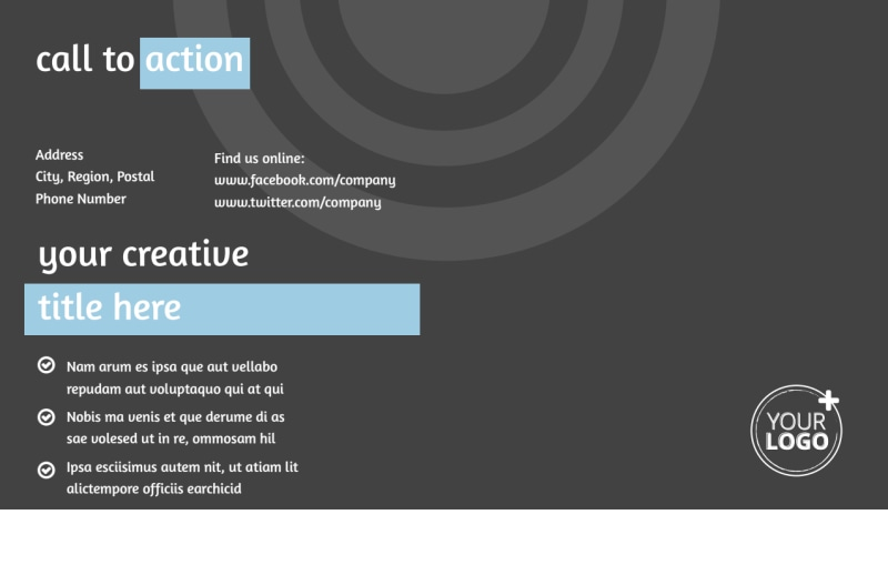 SEO Conference Postcard Template Preview 3