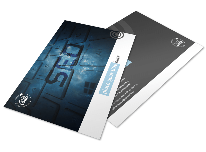 SEO Conference Postcard Template Preview 1