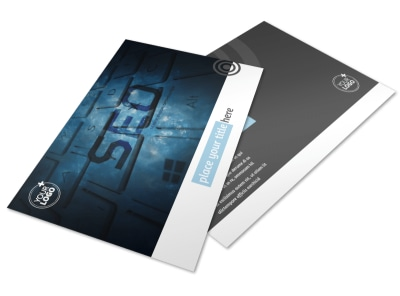 SEO Conference Postcard Template