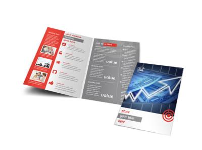 Wealth Management Services Bi-Fold Brochure Template preview