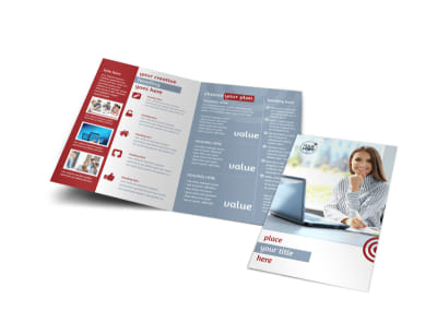 Web Developers Bi-Fold Brochure Template
