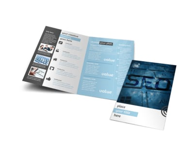 SEO Conference Bi-Fold Brochure Template preview