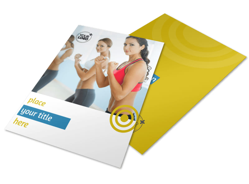 Core Fitness Gym Flyer Template