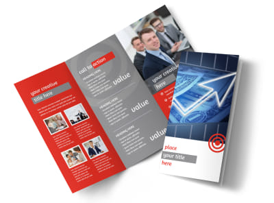 Wealth Management Services Tri Fold Brochure Template preview