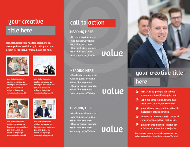 Financial Advisor Brochure Template Preview 3