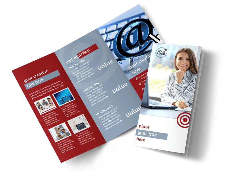 Web Developers Tri-Fold Brochure Template