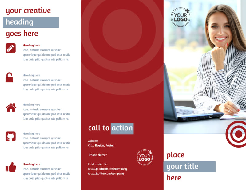 Web Developers Brochure Template Preview 2