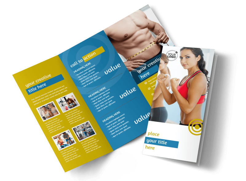 Core Fitness Gym Brochure Template Preview 1