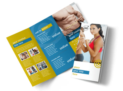 Core Fitness Gym Tri-Fold Brochure Template preview