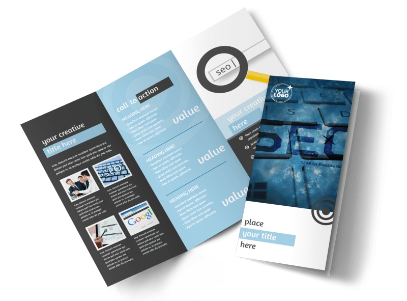 SEO Conference Tri-Fold Brochure Template