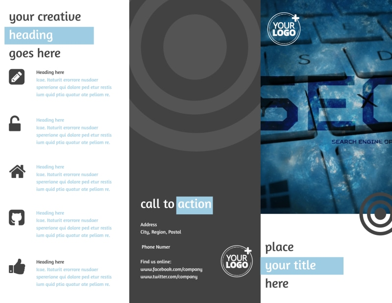 SEO Conference Brochure Template Preview 2