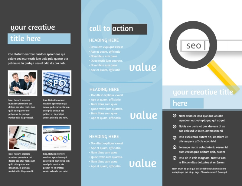 SEO Conference Brochure Template Preview 3