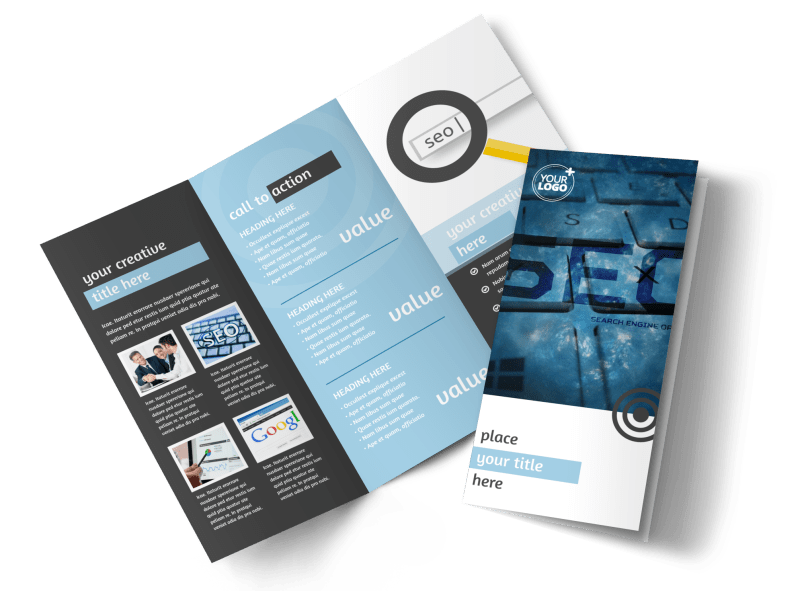 SEO Conference Brochure Template Preview 1