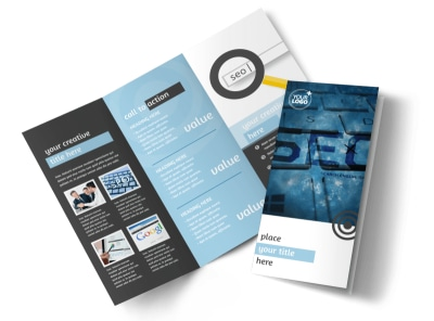 SEO Conference Tri-Fold Brochure Template preview