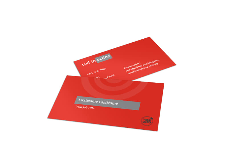 Wealth Management Services Business Card Template